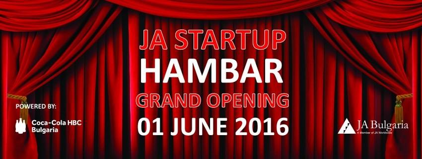 Бъдете част от официалното откриване на JA Startup Hambar