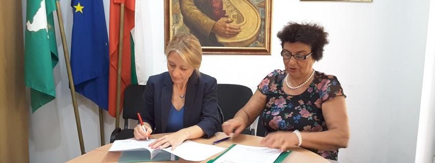 Днес подписахме споразумение за сътрудничествос с Националнаото сдружение на общините